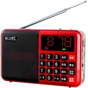 月光宝盒 爱国者(aigo)S1-Pro 红色 便携式插卡音箱 迷你音响 FM收音机 可连U盘手机