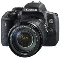 佳能 EOS 750D 单反套机 (EF-S 18-135mm f/3.5-5.6 IS STM镜头)产品图片主图
