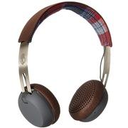 斯酷凯蒂 骷髅头 GRIND高地鼓手 便携可伸缩头戴式耳机 狼灰 支持通话