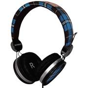 On earz OE-WAT01 WATI B Rappe嘻哈系列超薄款耳罩式 (蓝黑格)