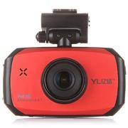 亿络 E766C 行车记录仪 1080P全高清170°超广角带夜视 红色