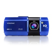 群华 V10 车载行车记录仪 1080P全高清 迷你 夜视 超广角 蓝色