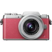 松下 Lumix DMC-GF7 微型单电单镜套机 粉色 手动变焦版 自拍利器(12-32mm GF6升级版微单 DMC-GF7KGK-P)