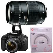 腾龙 佳能(Canon) EOS 1200D 单反套机(EF-S 18-55mm f/3.5-5.6 IS II镜头)腾龙AF70-300mm F/4-5.6 佳能卡口