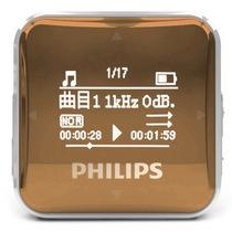 飞利浦 SA2208 飞声音效8G 专业发烧无损迷你运动跑步MP3播放器 FM收音录音 金色产品图片主图