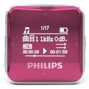 飞利浦 SA2208 飞声音效8G 专业发烧无损迷你运动跑步MP3播放器 FM收音录音 粉红色