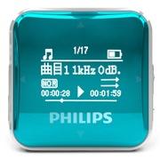 飞利浦 SA2208 飞声音效8G 专业发烧无损迷你运动跑步MP3播放器 FM收音录音 青绿色