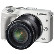 佳能 EOS M3(EF-M 18-55mm f/3.5-5.6 IS STM) 微型单电套机 白色套装版(16G卡+相机包)