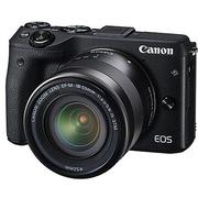 佳能 EOS M3(EF-M 18-55mm f/3.5-5.6 IS STM) 微型单电套机 黑色套装版(16G卡+相机包)