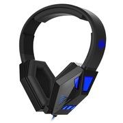 宾果 G7 金刚狼 头戴式电脑游戏耳麦 带线控 幽蓝色LED灯光效果