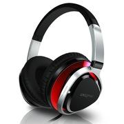 创新 Aurvana Live2 头戴包耳式耳麦Hifi音质 手机PC适用 多用线控 经典耳机升级版 红色