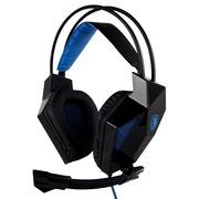赛德斯 SA-709 头戴式 立体声 专业 游戏耳机(黑蓝)