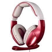 赛德斯 戮血红眸狼 SA-902 头戴式 7.1声道 高端 专业 游戏耳机(粉色)