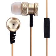 赛德斯 SA608 入耳式 重低音 手机游戏耳机 音乐耳机 土豪金 带线控音量调节 金色