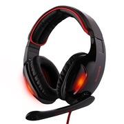 赛德斯  戮血红眸狼 SA-902 头戴式 7.1声道 高端 专业 游戏耳机(黑红)