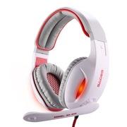 赛德斯  戮血红眸狼 SA-902 头戴式 7.1声道 高端 专业 游戏耳机(白红)