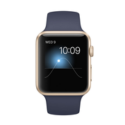 苹果 Watch Sport 智能手表(42mm/金色铝金属表壳/午夜蓝色运动型表带)