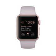 苹果 Watch Sport 智能手表(38mm/玫瑰金色铝金属表壳/薰衣草紫色运动型表带)