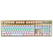凯酷 Hero 104 LED荣耀版 香槟金混光机械键盘 游戏键盘 红轴