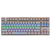 凯酷 Hero 87 LED 荣耀版 香槟金混光机械键盘 游戏键盘 茶轴
