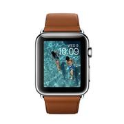 苹果 Watch 智能手表(42mm/不锈钢表壳/鞍褐色经典扣式表带)