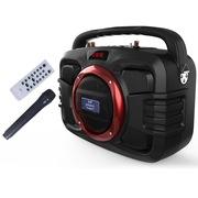 双诺 声美HJ-808  6.5寸低音背带式音箱 户外便携式锂电音响 广场舞蓝牙手提音箱 大功率扩音器 红色