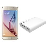 三星 Galaxy S6(G9200)32G版 铂光金 移动联通电信4G手机 双卡双待(配大容量移动电源套装)