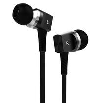 兰士顿 F8 镭射金属入耳式 重低音线控带麦调音手机耳机 黑色产品图片主图