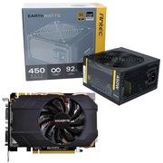 安钛克 额定450W EAG450 金牌电源+技嘉 GIGABYTE GV-N970IXOC-4GD GTX970 显卡