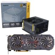 安钛克 额定450W EAG450 金牌电源+技嘉(GIGABYTE)GV-N970G1 GAMING-4GD GTX970 显卡