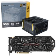 安钛克 额定550W EAG550 金牌电源+技嘉(GIGABYTE)GV-N980WF3OC-4GD GTX980 显卡