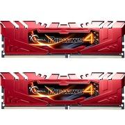 芝奇  Ripjaws 4 DDR4 2666 4G×2 台式机内存 (F4-2666C15D-8GRR) 红色