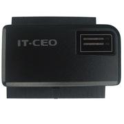 IT-CEO IT-150 USB2.0转IDE并口/SATA串口转接器/适配器/连接器/易驱线!支持2.5/3.5英寸硬盘 砂黑色