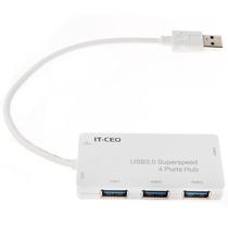 IT-CEO W1HUB-2Z USB3.0 四口HUB集线器/分线器 多接口高速扩展/转接/转换器 自带线 线长0.2米 白色产品图片主图