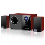 恩科 S2880B 木质2.1蓝牙音响音箱低音炮电脑多媒体带插SD卡U盘功能 红色