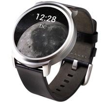 Ticwatch 智能手表 语音手势触摸全交互ticwear系统 蓝牙手表 防水记步测心率 皮质皮带 绅士黑产品图片主图