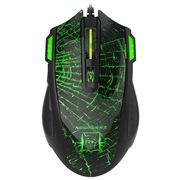 新贵 N700 绿色呼吸灯6键游戏鼠标 黑色蛛网