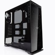 迎广 8系 805 ATX中塔式精品机箱 铝合金+钢化玻璃/U2*2+U3*2  黑色