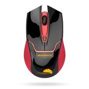 新贵 E400 无线游戏发光鼠标 红黑色(红光)