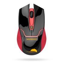 新贵 E400 无线游戏发光鼠标 红黑色(红光)产品图片主图