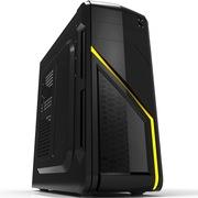 超频三 箭侠 中塔式游戏机箱 黑色(USB3.0/支持超长显卡/电源上置/办公机箱)