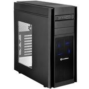 银欣 KL05B-W 忽必烈5 黑色侧透版机箱(多硬盘空间/直进风/带12公分LED风扇/支持水冷)