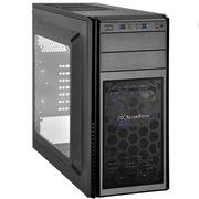 银欣 PS11B-W 精准11 黑色侧透版机箱(支持长显卡/直进风/带12公分LED风扇/支持水冷)