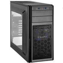 银欣 PS11B-W 精准11 黑色侧透版机箱(支持长显卡/直进风/带12公分LED风扇/支持水冷)产品图片主图