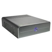立人 E-I3银色 全铝迷你ITX机箱 HTPC机箱 内含120W电源(电源模组静音设计/支持安装17*17cm主板)