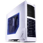 星宇泉 核弹三号9806白色侧透机箱背线EATX EEB服务器主板/120水冷2组调速温控/5风扇/1xLED饰灯