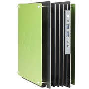 迎广  H-Frame mini ITX开放式机箱/铝合金/ 限量版/2014德国红点奖 (USB3.0 *2 )绿色