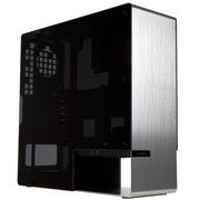 迎广 904 ATX 全铝/钢化玻璃 中塔式机箱 /2014台湾精品奖/银色(USB3.0 *4 /4mm铝板/ 一体成型)
