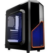 航嘉 MVP /黑橙 Mini经典游戏机箱(侧透/U3/长显卡/侧插/全兼容SSD)
