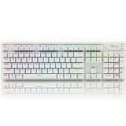 ROYAL KLUDGE RG928 RGB幻彩背光式机械键盘白色黑轴
